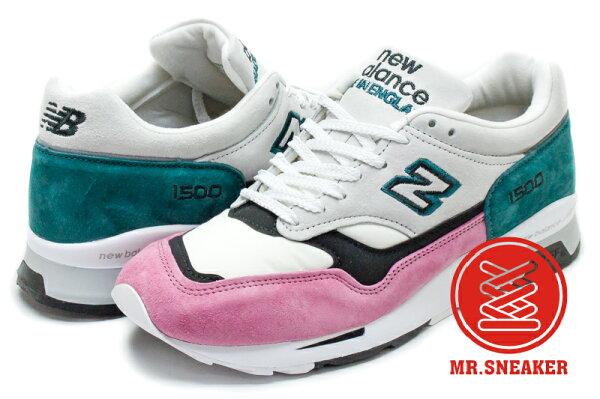 ☆Mr.Sneaker☆NewBalance1500英製灰色綠粉紅M1500PFT男段