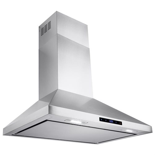 """AKDY 30"""" Kitchen Wall Mount Stainless Steel Touch Panel Control Range Hood AKRH0171 0"""