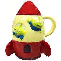 SUN ART 迪士尼皮克斯玩具總動員三眼怪 火箭馬克杯 造型咖啡杯 陶瓷杯 附杯蓋 日本進口正版 243793
