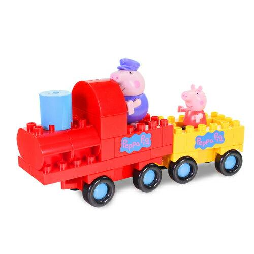 粉紅豬小妹積木系列-火車組/ Peppa Construciton - Grandpa Pig\