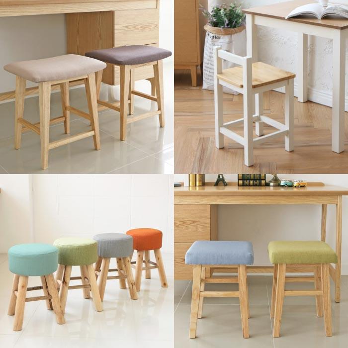 實木凳 餐椅 書桌凳 椅子 韓國 北歐實木餐椅 MH家居