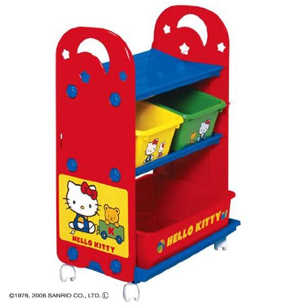 日本 迪士尼 Disney kitty凱蒂貓玩具收納櫃