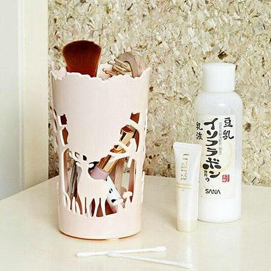 Mycolor:♚MYCOLOR♚森林動物鏤空收納盒桌面籃文具筆筒辦公室洗漱通風化妝品裝飾擺件【G64】