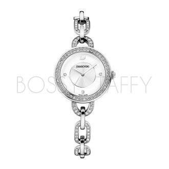 SWAROVSKI 施華洛世奇 Aila 鍊戀時尚水鑽仕女腕錶 1094376 經典銀錶盤白
