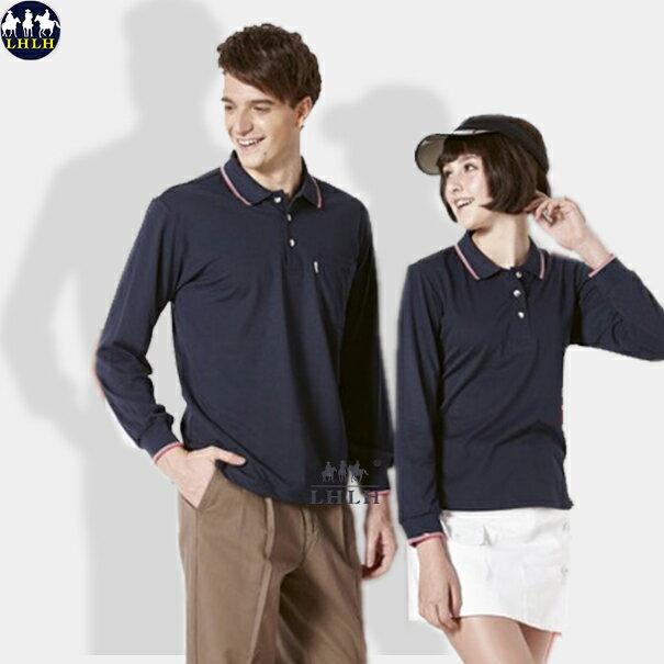 排汗polo衫 長 男女平價 吸濕排汗 深藍色 丈青