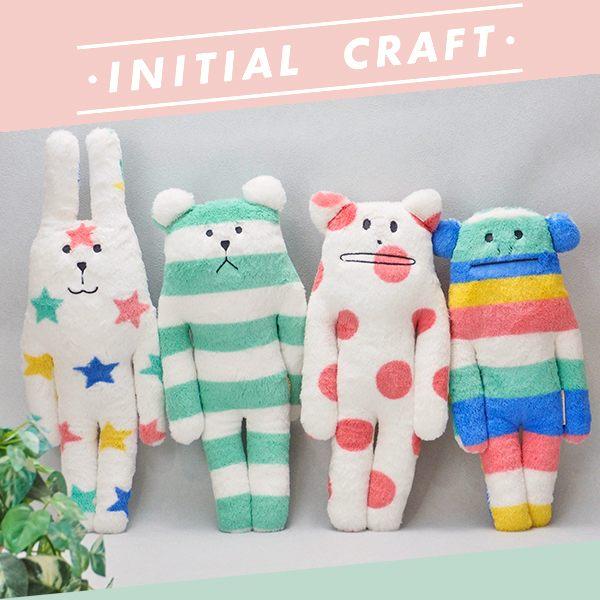 宇宙人 小抱枕 娃娃 S號 INITIAL craftholic 日本正版 該該貝比日本精品 ☆