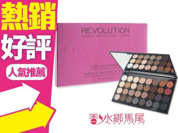 英國MakeupRevolution32色眼影盤◐香水綁馬尾◐