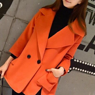 毛呢大衣短版風衣外套-時尚流行氣質開叉女外套3色73ki5【獨家進口】【米蘭精品】