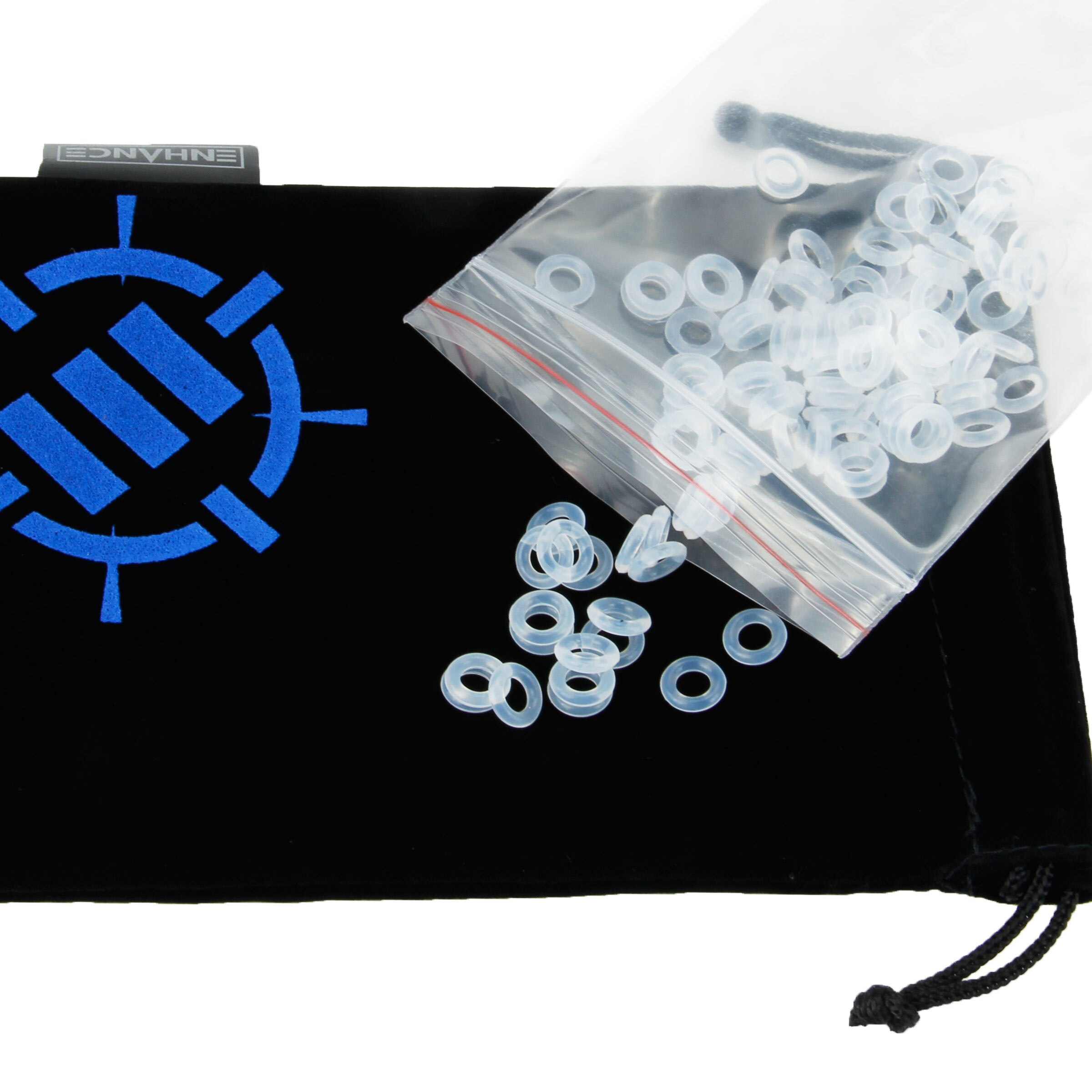 ENHANCE Mechanical Keyboard Modification Kit with Clear O-Ring Switch Dampeners & Keycap Puller 1
