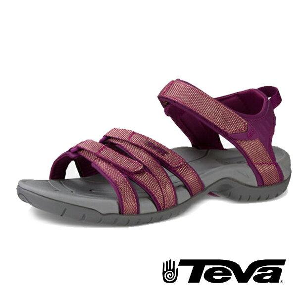 【TEVA 促銷8折│全店免運】】TEVA 美國 女 Tirra 機能運動涼鞋 深紫紅-TV4266ZDPG