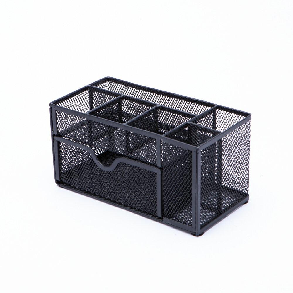 【品牌週全館8折up】格調黑多格收納盒附抽-生活工場