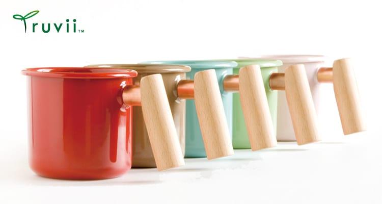 《愛露愛玩》【Truvii】木柄琺瑯杯