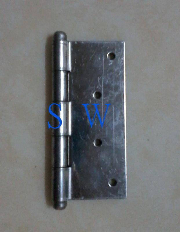 HI025白鐵鉸鍊 4×1.5mm(單片20元)丁雙 4英吋 10公分後鈕 鋁門後鈕 插心後鈕 旗型鉸鏈 活頁 鉸鏈鋁