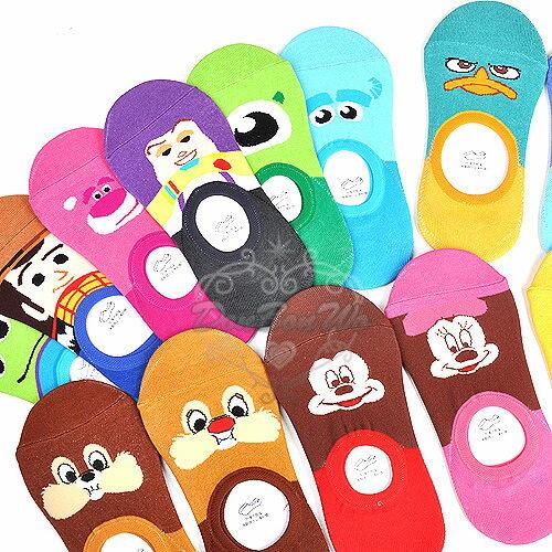 迪士尼米奇米妮奇蒂維尼胡迪泰瑞鸭玩具毛怪大眼仔維尼短襪船型襪106454海渡
