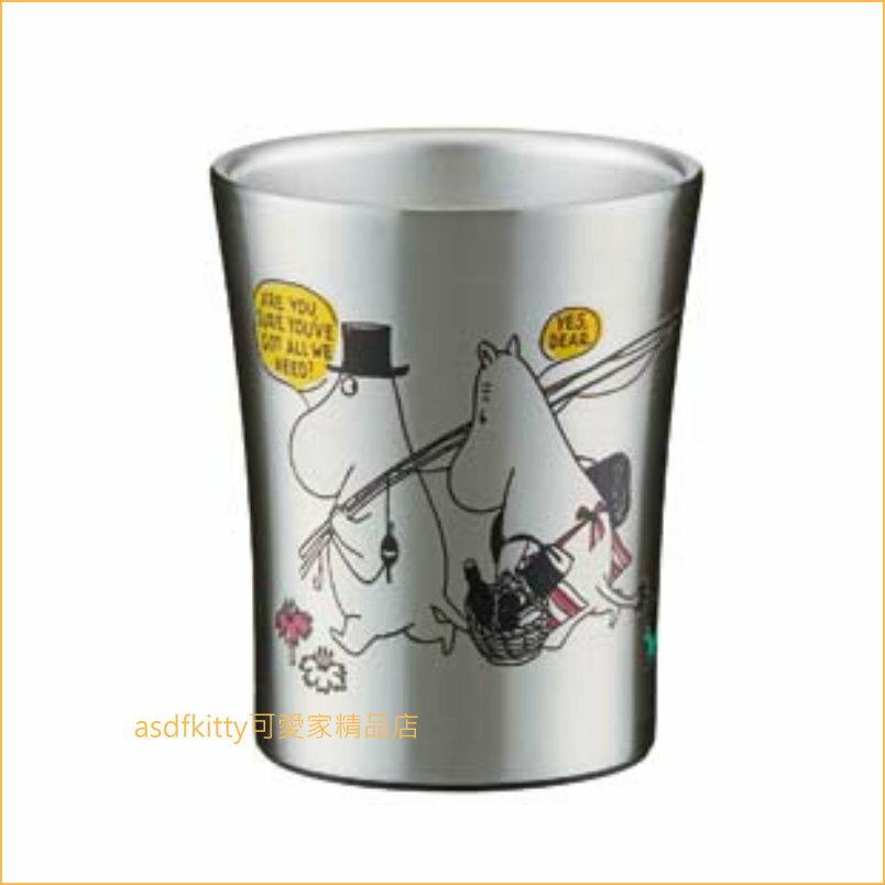asdfkitty可愛家☆MOOMIN 嚕嚕米釣魚不流汗真空不鏽鋼保冷保溫杯-250ML-不燙手-日本正版商品