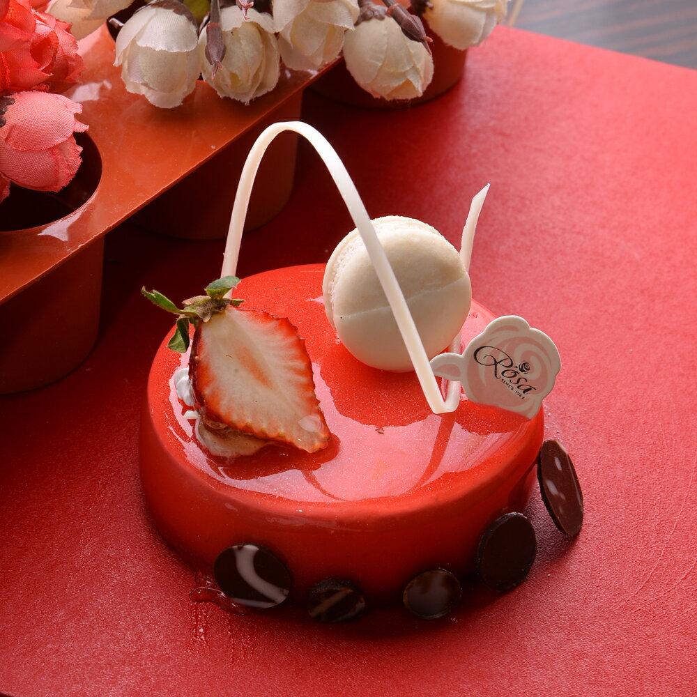 【羅撒法式西點】草莓覆盆子慕斯蛋糕~「Tango」★樂天歡慶母親節滿499免運