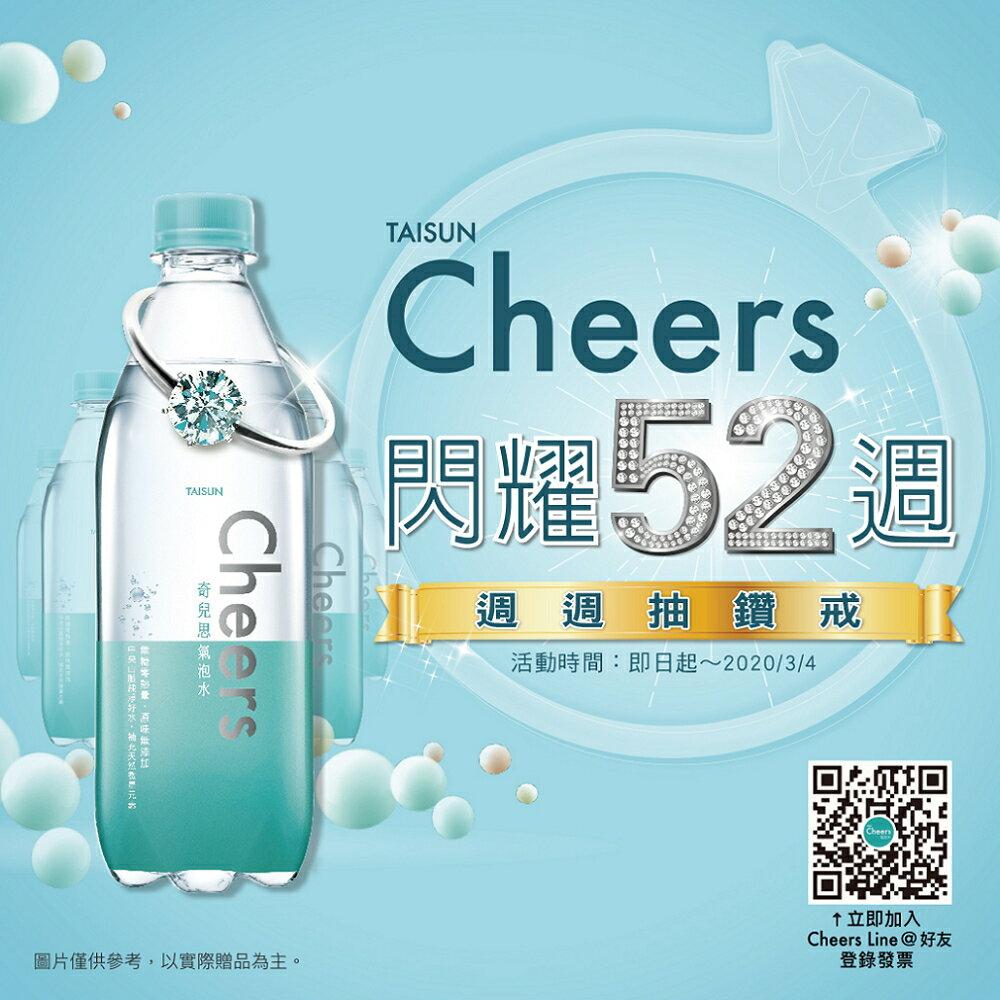 【泰山】Cheers EX 強氣泡水 (500ml*24入 / 箱) 2