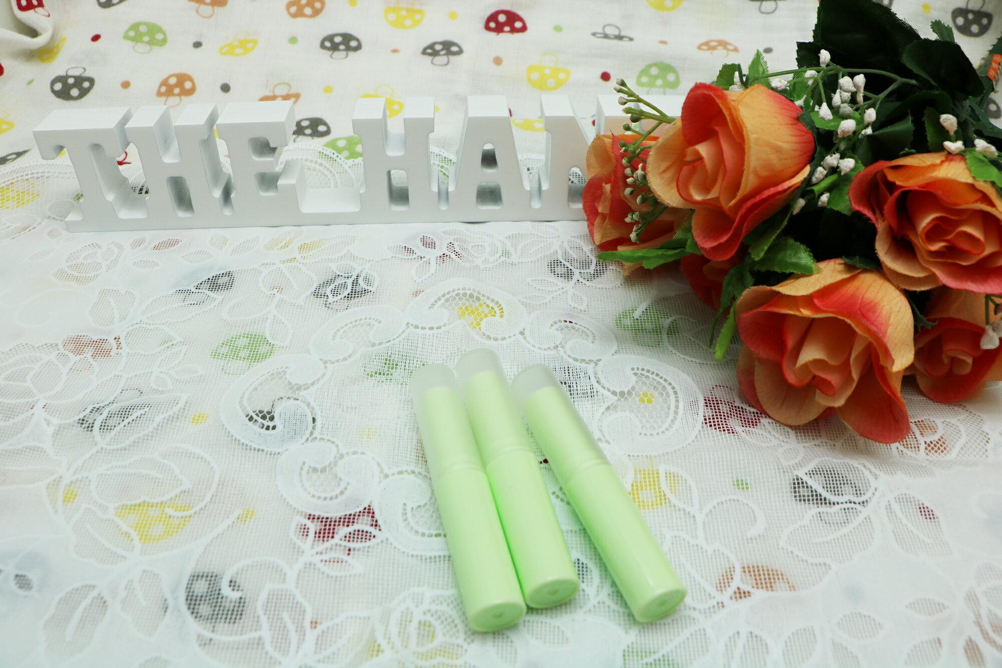 DIY 馬卡龍系粉綠色護唇膏管(細長 3g)