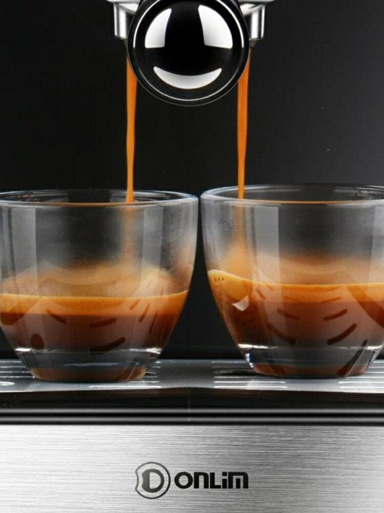 咖啡機 Donlim/東菱 DL KF5002意式咖啡機家用 小型 手動 半自動 蒸汽式220V JD   全館八五折