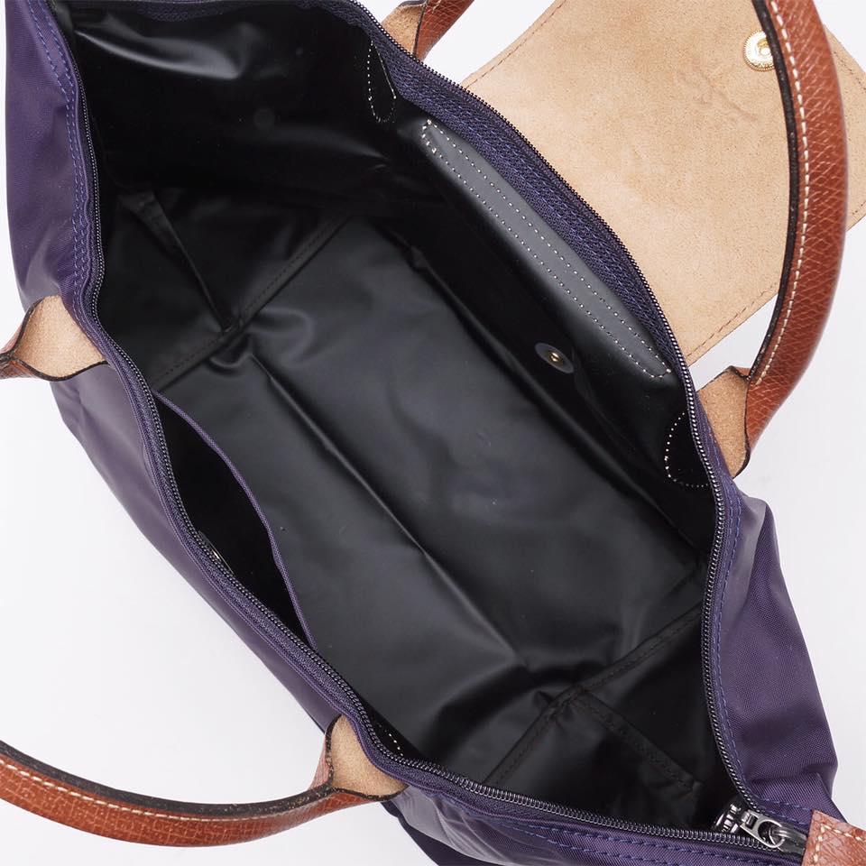【LONGCHAMP】 LE PLIAGE 基本摺疊款/短把水餃包(深紫/中) 2