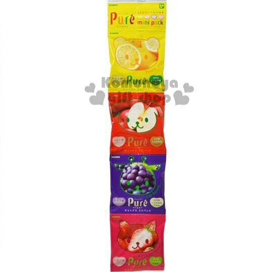 〔小禮堂〕日本原產 甘樂KANRO Pure水果軟糖《4連一組.軟糖.袋裝.80g》4種口味