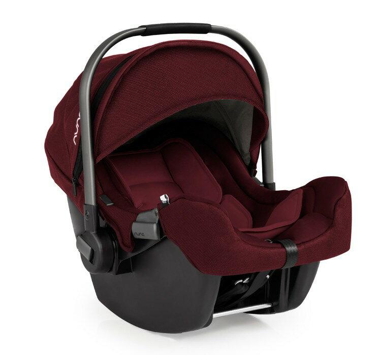【贈聲光小貝貝+玩偶(隨機)】荷蘭【Nuna】Pipa 提籃式汽車安全座椅(莓紅色) 2