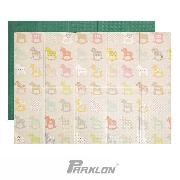 Parklon 韓國帕龍 攜帶式摺疊地墊-彩色木馬140 x 200 x 1.2 cm