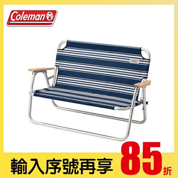 全店下單85折 結帳序號【OUTDOOR-OCT-15%OFF】【露營趣】中和安坑 Coleman CM-31287 輕鬆折疊長椅 休閒椅 摺疊椅 情人椅 雙人椅