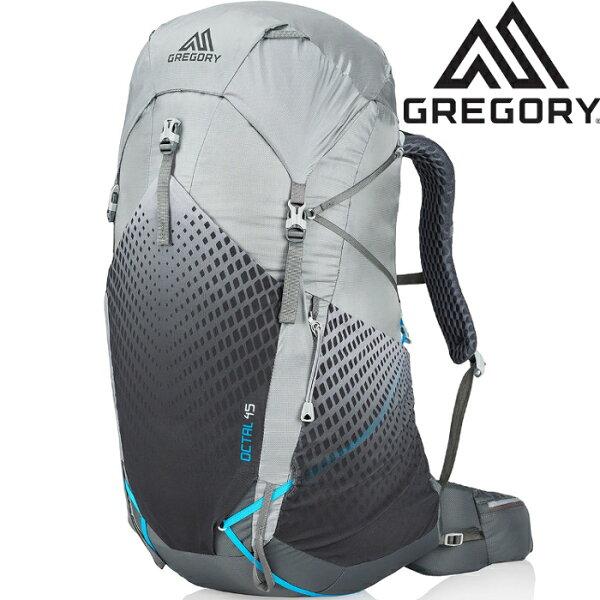 Gregory後背包登山背包背包客網架背包健行Octal45女款輕量登山包916311346冰霜灰