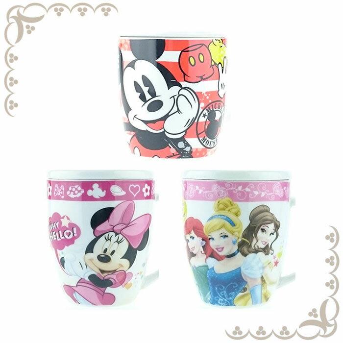 大田倉 日本進口正版迪士尼 Disney 米奇 米妮 公主系列 馬克杯 陶瓷杯 水杯 茶杯 咖啡杯 附蓋