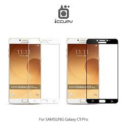 強尼拍賣~ iCCUPY SAMSUNG Galaxy C9 Pro 類鋼琴烤漆滿版玻璃貼 2.5D 0.33mm