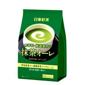 【即期良品】【日東紅茶】日東牛奶歐蕾抹茶沖泡粉 10本入 (120g) *賞味期限:2017/12/31*