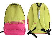 Adidas愛迪達,adidas愛迪達後背包推薦到Shoestw【A95719】ADIDAS 後背包 BTS BP8 黃桃紅 學生包