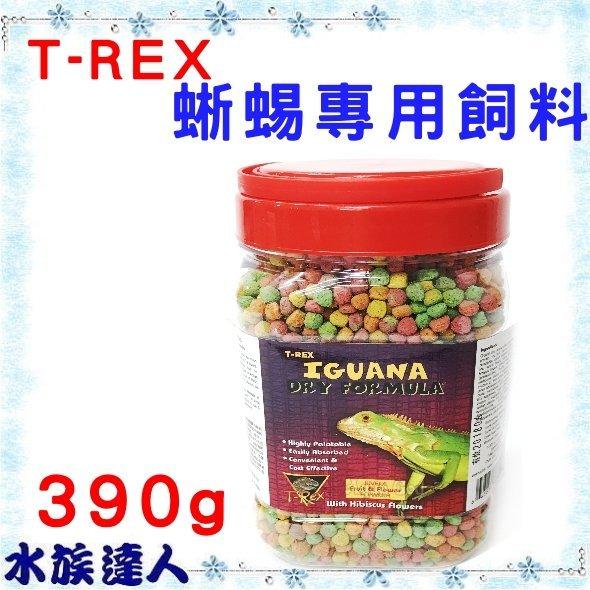 【水族達人】美國T-REX《蜥蜴專用飼料 390g》蜥蜴 綠鬣蜥 鬣蜥 其他草食性蜥蜴 花果 蔬菜 口味