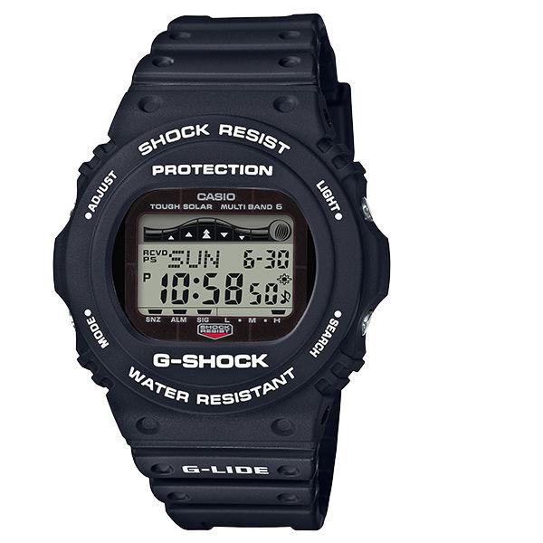 CASIOG-SHOCKGWX-5700CS-1G-LIDE系列經典復刻電波潮汐電子錶黑