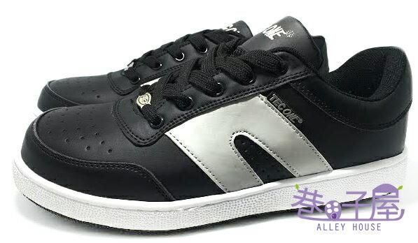 【巷子屋】MODYF 男款鋼頭防護運動滑板鞋 顆粒止滑外底 [2010] 黑 超值價$590