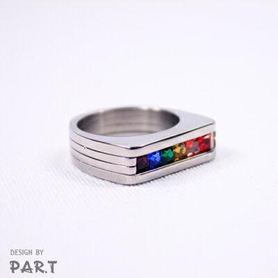 <br/><br/> (PAR.T)彩虹商品-彩虹馬蹄戒指<br/><br/>