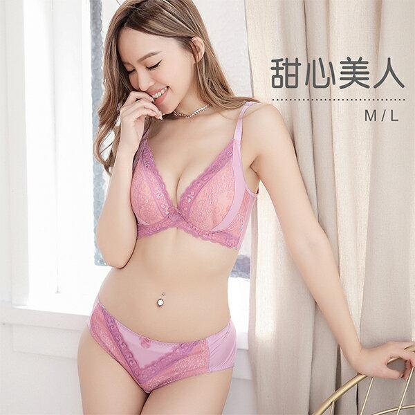內褲粉紅佳人甜美蕾絲咖啡紗透氣吸汗柔軟親膚U27829台灣製