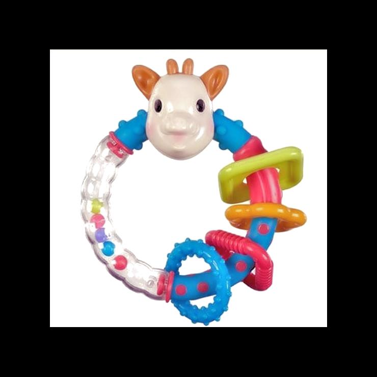 【法國Vulli】蘇菲二合一手搖鈴固齒器玩具