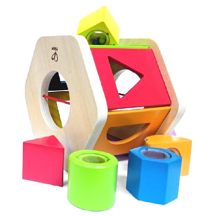德國 HAPE六角分類積木盒