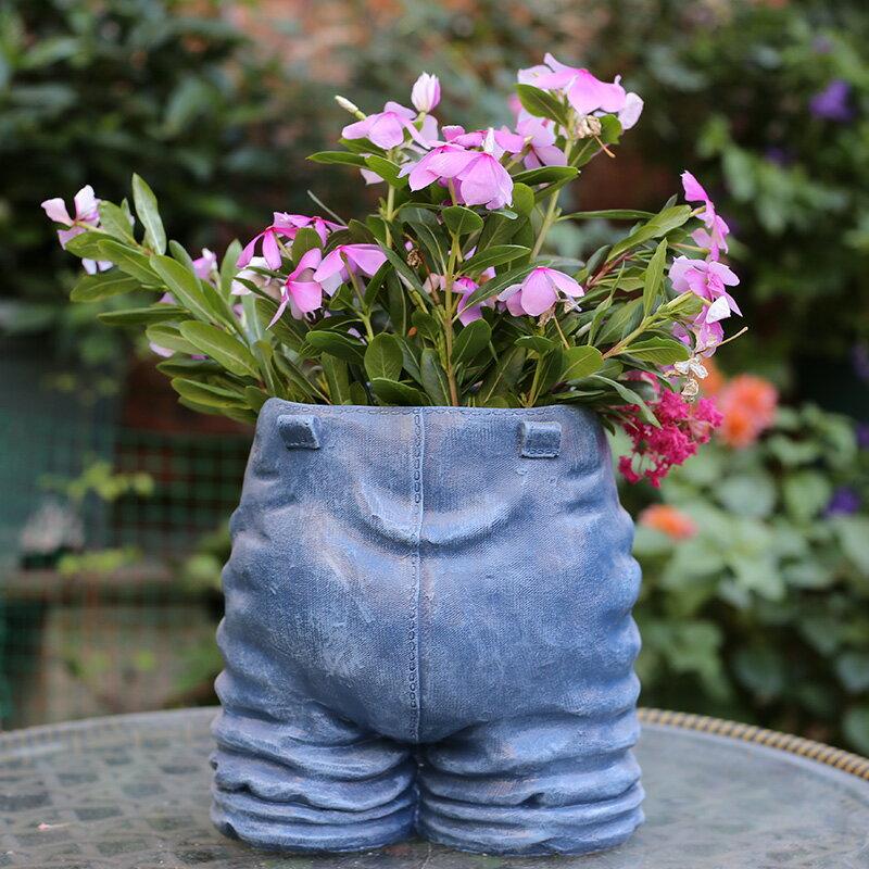 花園裝飾 庭院 園藝擺件樹脂小貓創意個性大號多肉植物花盆花器