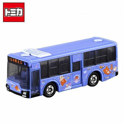 【日本正版】TOMICA NO.8 三菱 立川 拉拉熊 巴士 懶懶熊 多美小汽車 玩具車 - 879817