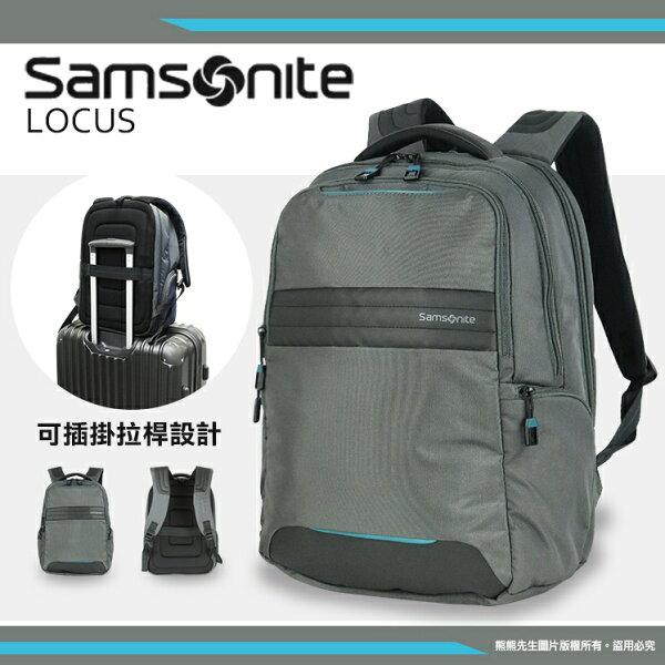 《熊熊先生》Samsonite新秀麗15.4吋筆電後背包LOCUSN2護脊背墊雙肩包Z36可插拉桿電腦包