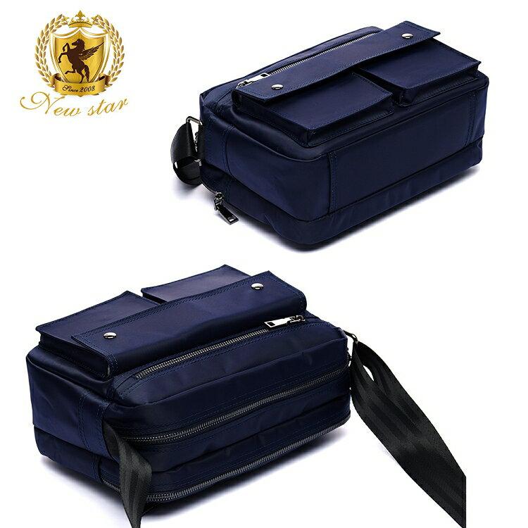 日系防水側背包包 升級版  (機能 雙口袋 雙層 斜背包 porter風 NEW STAR BL89 4