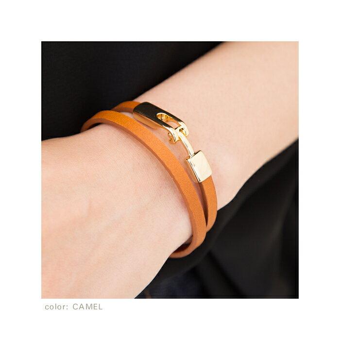 cream-dot 簡約設計高級真皮手環 / a00956。5色。(1680)日本必買 日本樂天代購 5