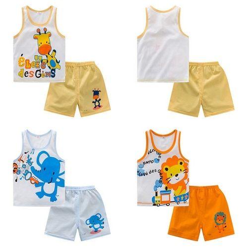 嬰幼兒短袖套裝 背心上衣T恤 短褲  AIY10702 好娃娃