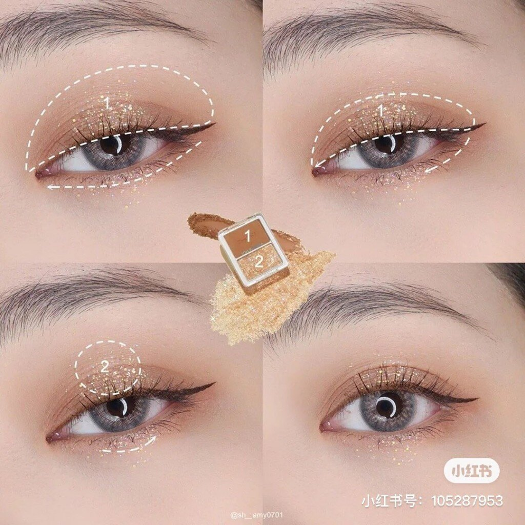 韓國 Unleashia Tap Me 雙色眼影盤 亮片眼影 眼頰盤 多功能彩妝盤