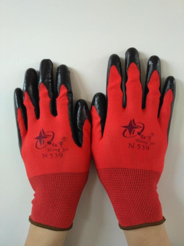 乳膠止滑工作手套1双 【AE001】NO135亮彩舒適型手套 止滑 / 耐磨手套 防滑工作手套 止滑手套 手套《八八八e網購 0