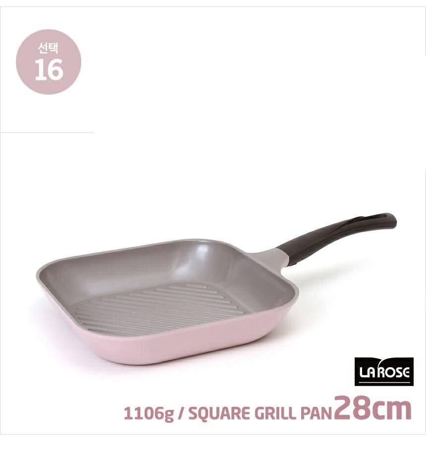 CHEF TOPF 韓國la rose玫瑰鍋 (方型平底鍋 28cm 編號NO.16) 韓國代購- 預購+現貨