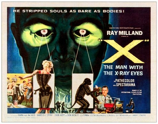 X The Man With The X-Ray Eyes Rolled Canvas Art - (14 x 11) bc7af3e269fdfb6826cdea58c16ce339